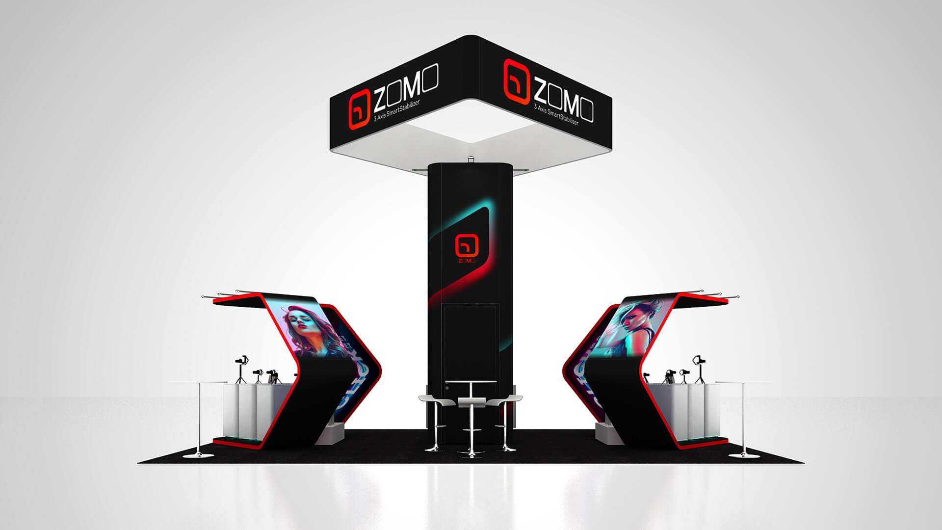Modular Island Booth, Modular Island Booth