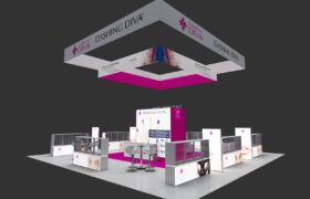 40×40 Trade Show Booth Displays & Exhibits