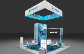 20×20 Modular Booth Design, and Rental Exhibits Displays